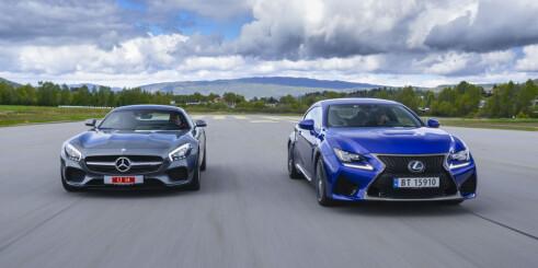 Lexus RC F  mot AMG-GTs