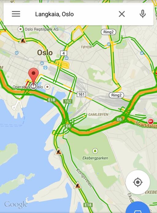 FIN FLYT: I skrivende stund ser det ut til at trafikken ut av Oslo flyter fint. Foto: PÅL JOAKIM OLSEN
