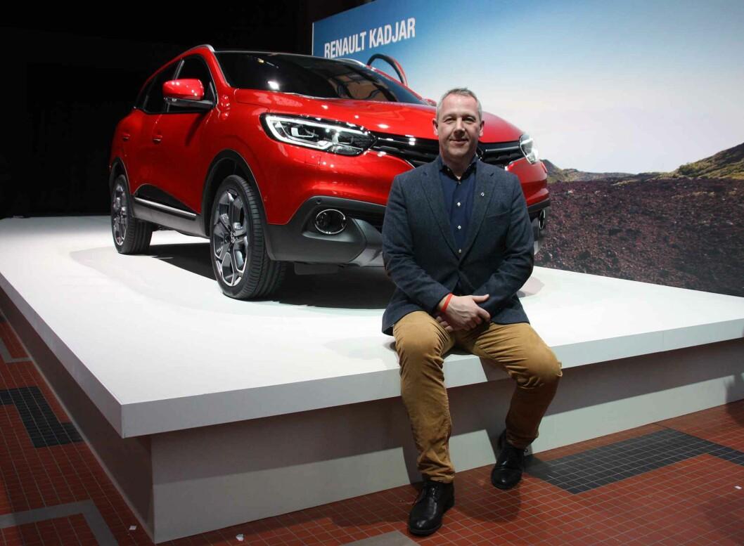 <strong><b>EN GLEDENS DAG:</strong></b> Anders Gadsbøll (bildet),administrerende direktør i Renault Norge, tror Kadjar vil gi Renault fornyet kraft og tyngde i det norske markedet. Foto: KNUT MOBERG