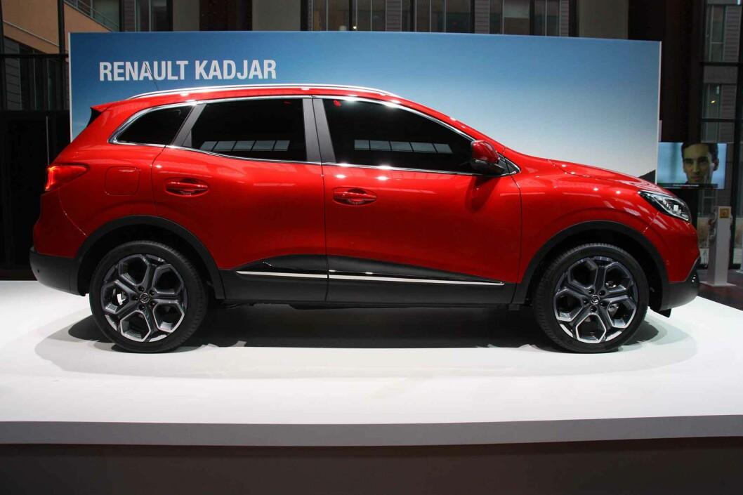 <strong><b>KOMPAKT:</strong></b> Kadjar kan konkurrere med konsernbror Nissan Qashqai. Lengde: 445 centimeter. Foto: KNUT MOBERG