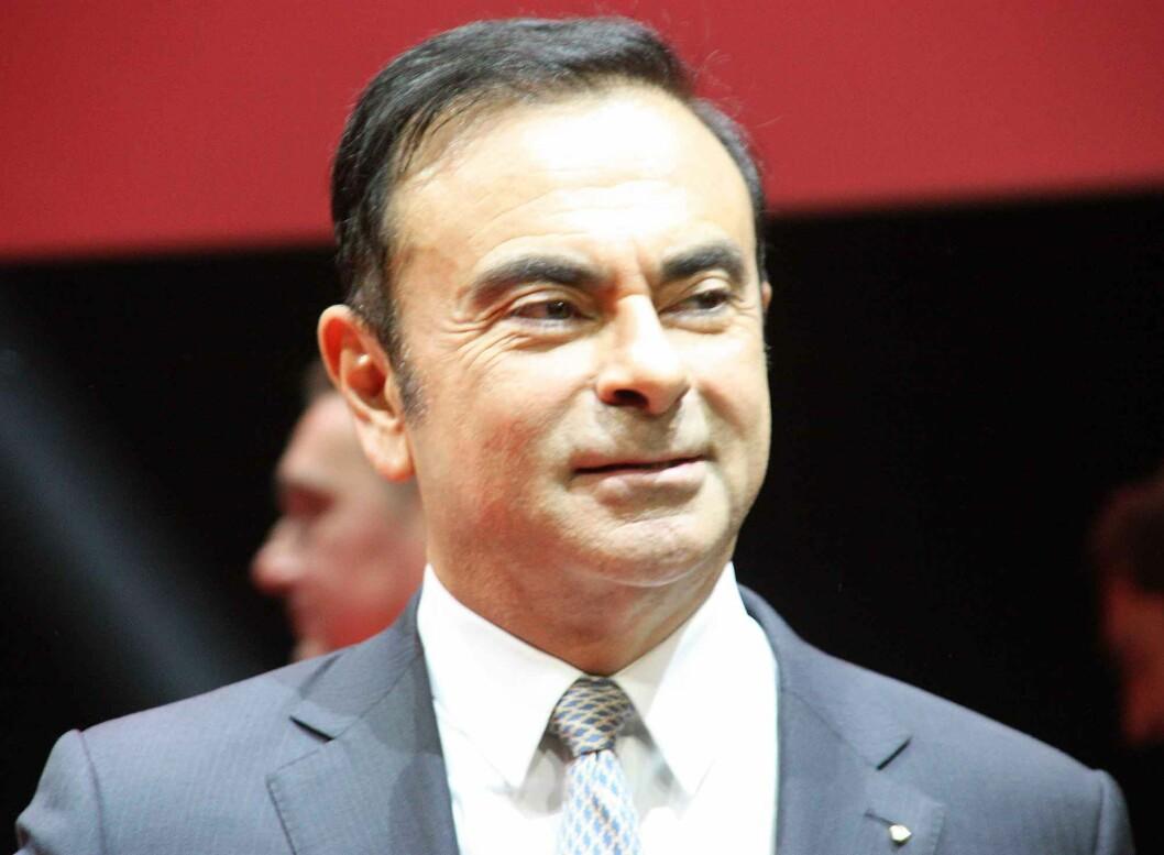 <strong><b>FORNØYD:</strong></b> Toppsjefen i Renault Nissan-alliansen, Carlos Ghosn, mener den nye modellen gir produsenten store muligheter i markedet. Foto: KNUT MOBERG