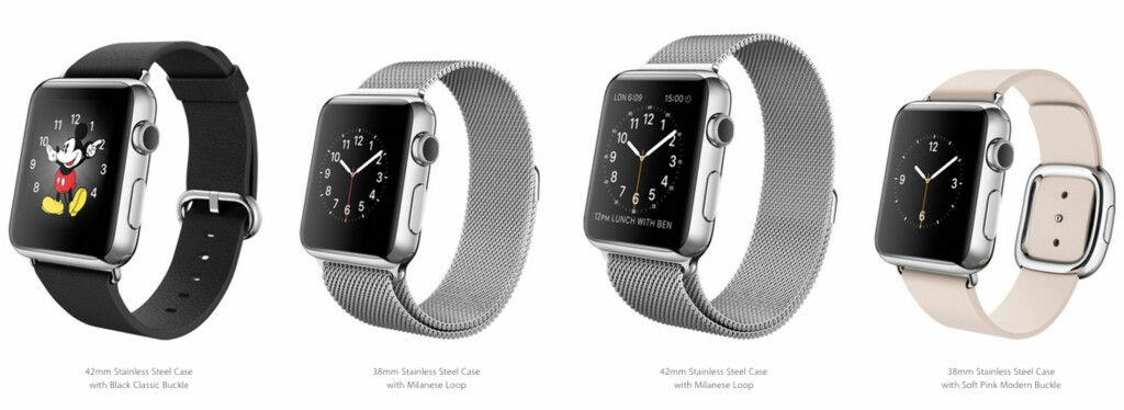 APPLE WATCH COLLECTION: 18 ulike varianter. Foto: APPLE