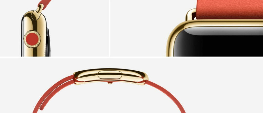 APPLE WATCH EDITION:  Snobbeversjonen kommer i seks ulike varianter, og er i 18-karats gull. Foto: APPLE