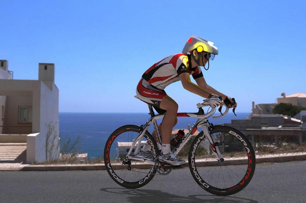 <strong><b>SIKKERHET OG ANSVAR:</strong></b> Forslaget om innføring av denne typen hjelm med registrering er fremmet av lokale myndigheter i Sydney i Australia. Idéen er både å beskytte syklisten selv og å sørge for at syklisten vil stilles til ansvar for sine handlinger på lik linje med motoriserte trafikanter. Foto: SMART HAT