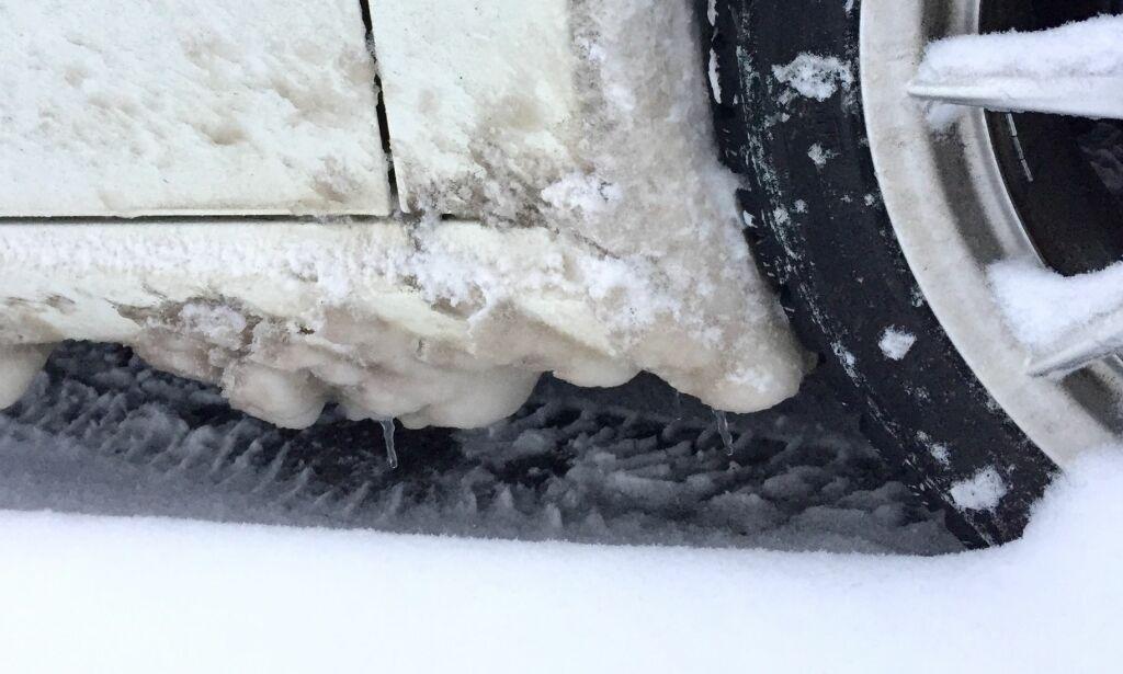 image: Dette kan skade bilen din. Slik unngår du isklumpene