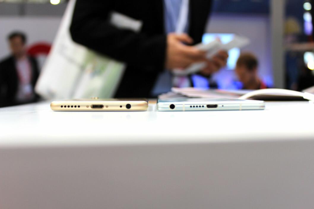 <strong><b>HAR HODETELEFON-INNGANG:</strong></b> Elife S7 er ikke så tynn at det ikke er plass til hodetelefon-inngangen. Foto: KIRSTI ØSTVANG