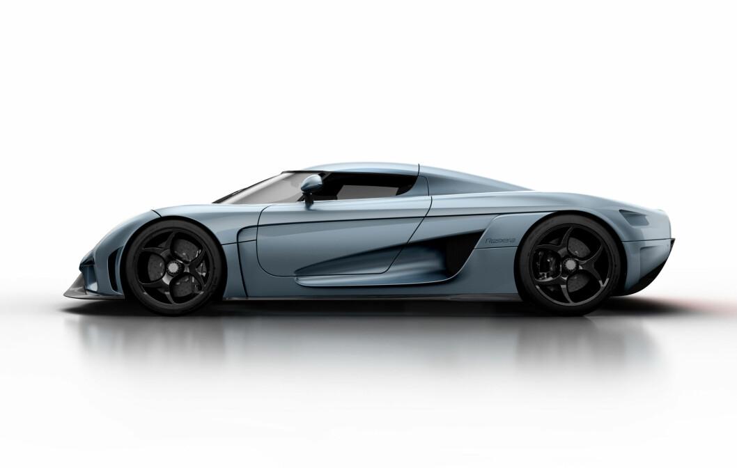 <strong><b>VERDENS RÅESTE:</strong></b> Regera er i følge Koenigsegg den råeste og raskest akselerende bilen i verden. Med totalt 1.760 hester og 2.000 NM mener vi at de har en god sak. Foto: KOENIGSEGG