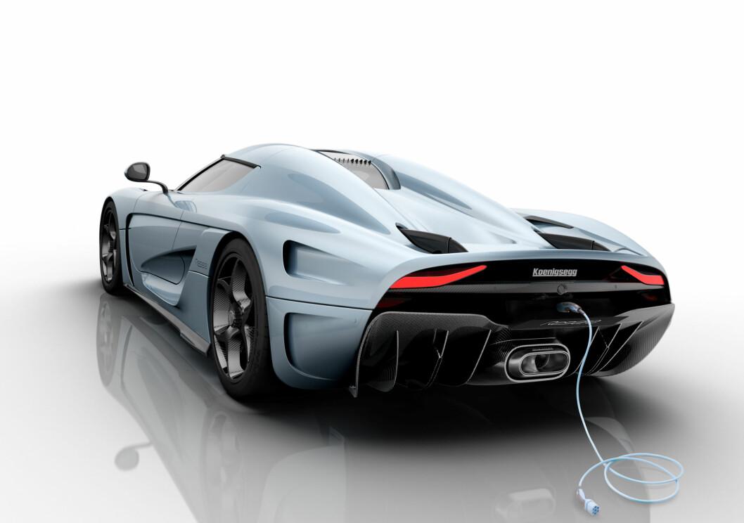 <strong><b>LADBAR:</strong></b> Regera vil ha en plug-in-løsning som gjør at bilen kan kjøre batteriene tomme når den vet hvor langt det er igjen til neste ladestasjon. På denne måten vil man kjøre mer miljøvennlig  på grunn av lavere utslipp og mindre bensinforbruk. Foto: KOENIGSEGG