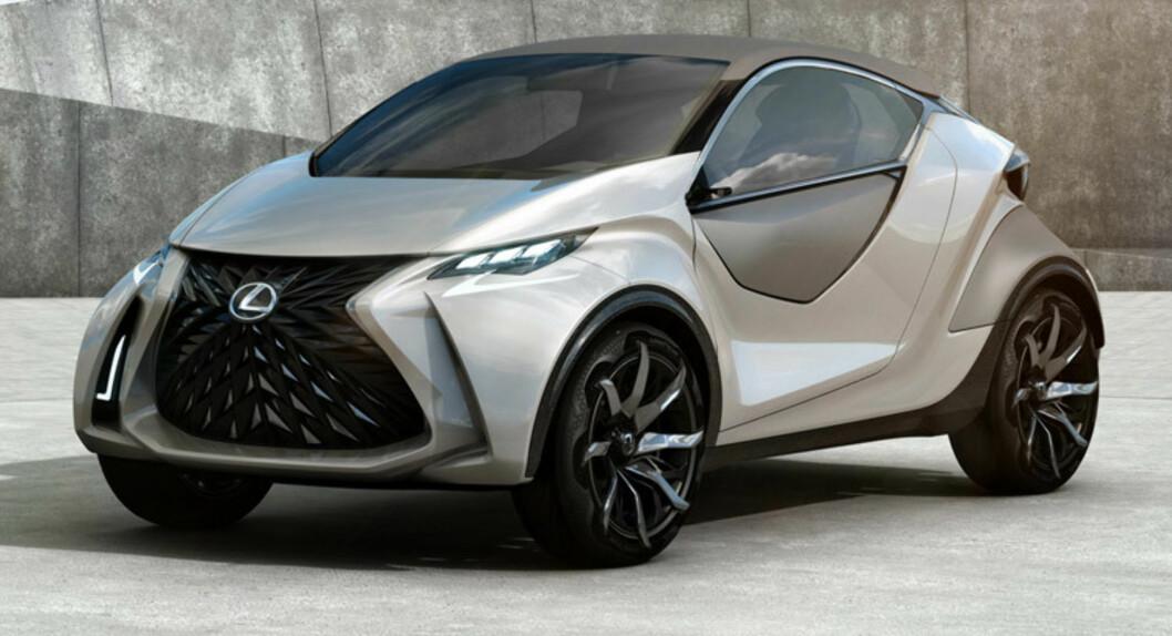 <strong><b>TO DØRER:</strong></b> Hvis LF-SA kommer i produksjon, blir den første småbil fra Lexus. Foto: LEXUS