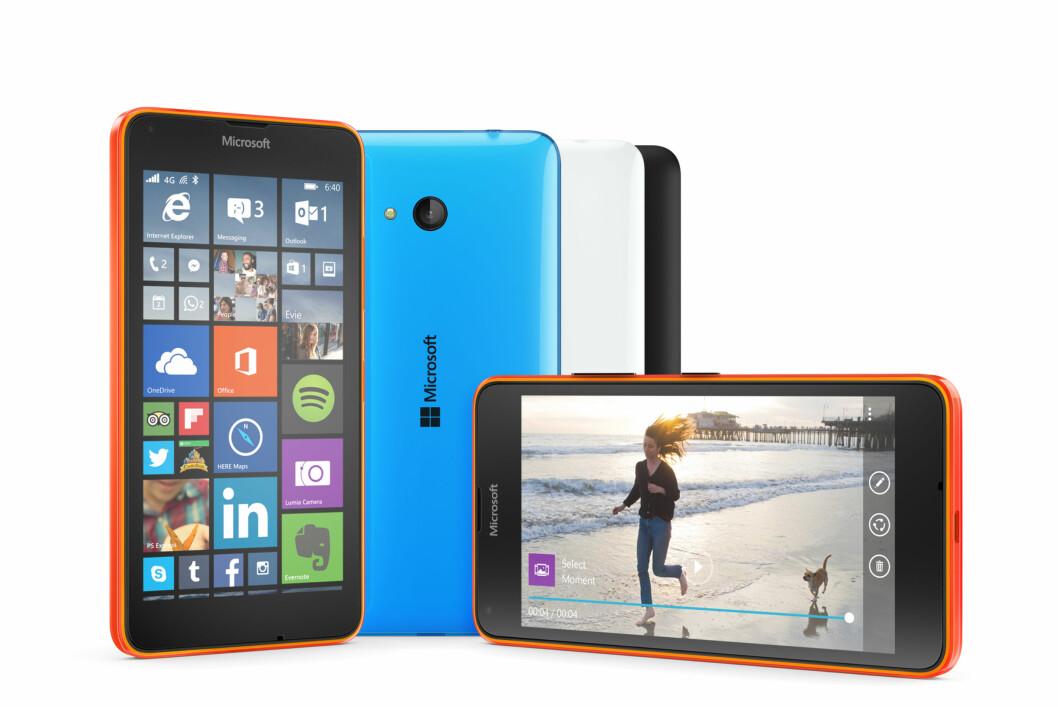 <strong><B>LILLEBROR:</strong></B> Lumia 640 vil koste under 1500 kroner i Norge. Foto: MICROSOFT