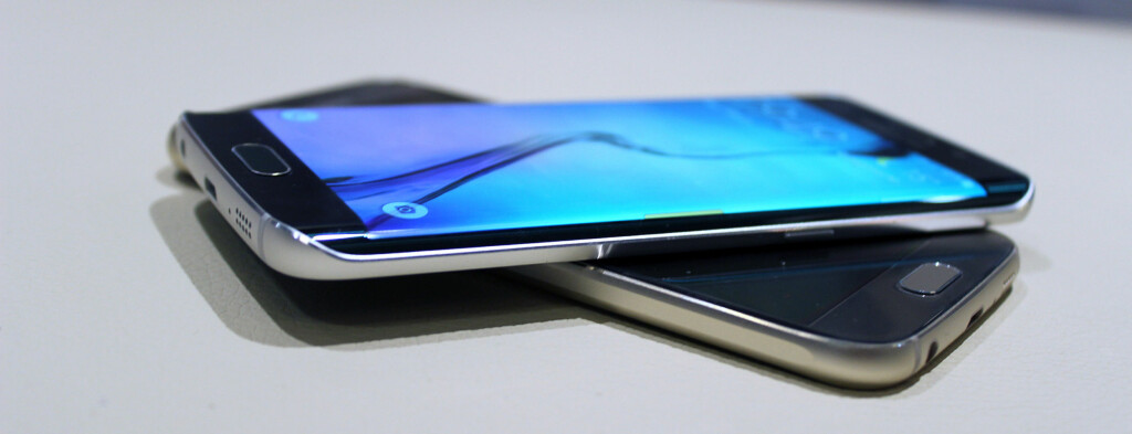 PÅ KANTEN: Samsungs nye toppmodell kommer i to utgaver, hvorav den ene har en langt frekkere design enn den andre. Foto: KIRSTI ØSTVANG