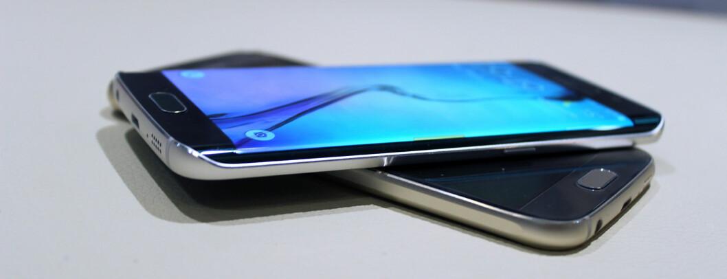 <strong><b>PÅ KANTEN:</strong></b> Samsungs nye toppmodell kommer i to utgaver, hvorav den ene har en langt frekkere design enn den andre. Foto: KIRSTI ØSTVANG