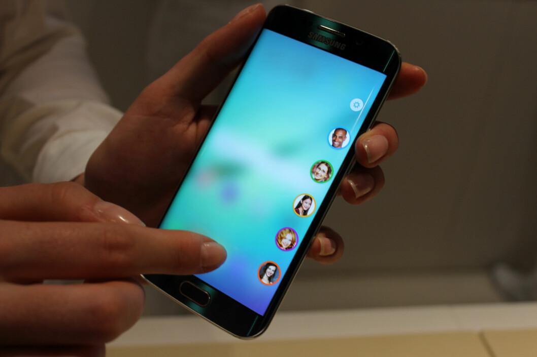 <strong><b>ULIKE FARGER:</strong></b> Her kan du sette opp hvem som skal lyse opp skjermkanten din. Foto: KIRSTI ØSTVANG