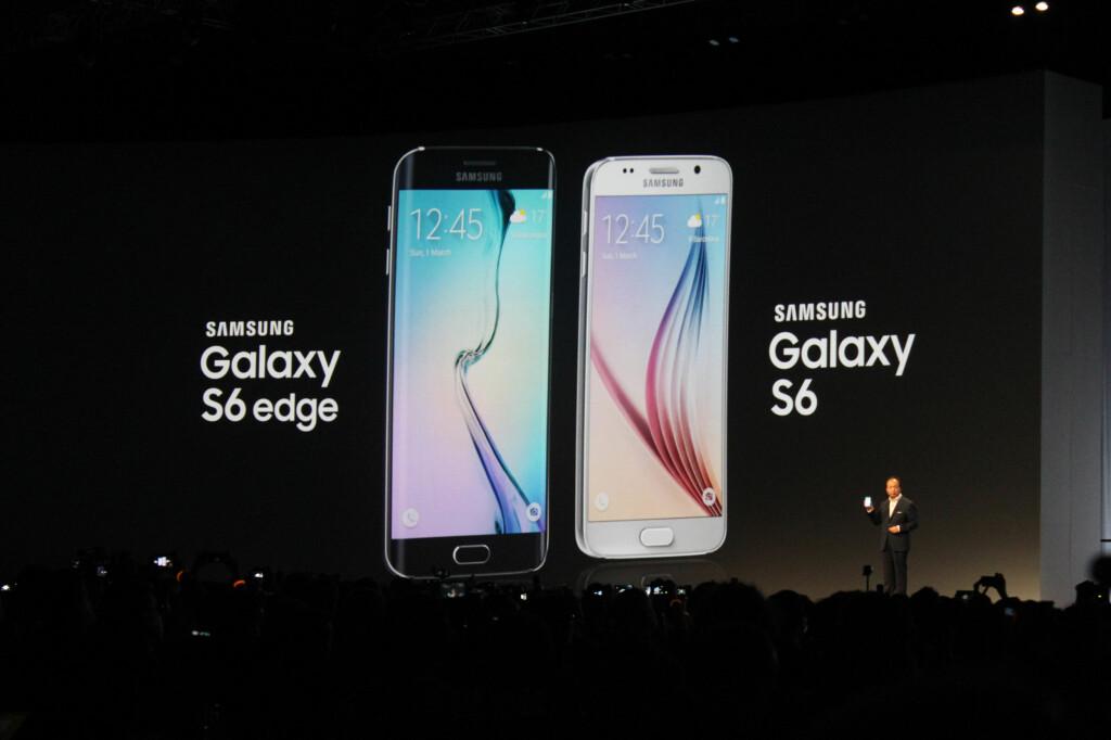 <b>OFFISIELT LANSERT:</b> Samsungs nye flaggskip kommer i to modeller. Foto: KIRSTI ØSTVANG
