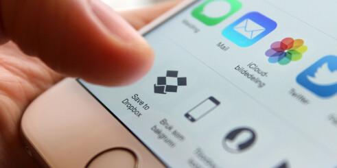Enklere deling i Dropbox for iOS
