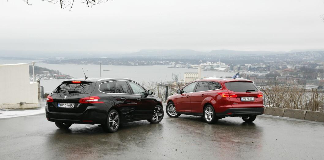 <B>STORE NOK </B>Ford Focus og Peugeout 308 SW er gode å kjøre, og er antagelig store nok for de aller fleste av oss.  Foto: KNUT ARNE MARCUSSEN