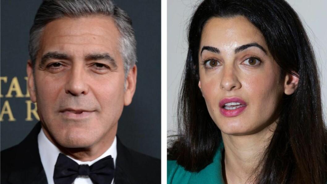<strong>STOROFFENSIV:</strong> George Clooney har skrevet et harmdirrende avisinnlegg mot tabloiden The Daily Mail, og nektet å ta imot noen unnskyldning fra dem, etter at avisen feilaktig skrev at Clooneys kommende svigermor var imot Clooneys forlovelse med juristen Amal Alamuddin av religiøse grunner. Foto: AFP PHOTO / Joe Klamar / Justin Tallis / Scanpix.