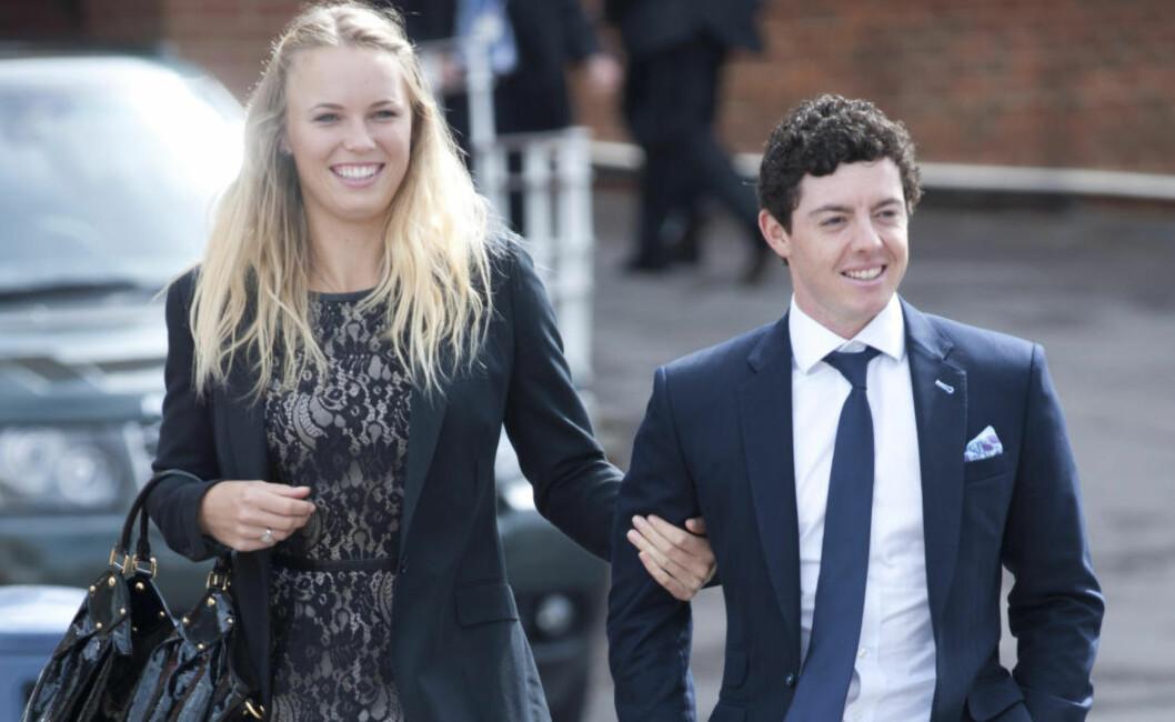 <strong>HELL I SPILL:</strong> Caroline Wozniacki og Rory McIlroy var et av idrettens heteste par. For to måneder siden brøt de forlovelsen - og nå viser begge storform på idrettsbanen. Foto: Stella Pictures