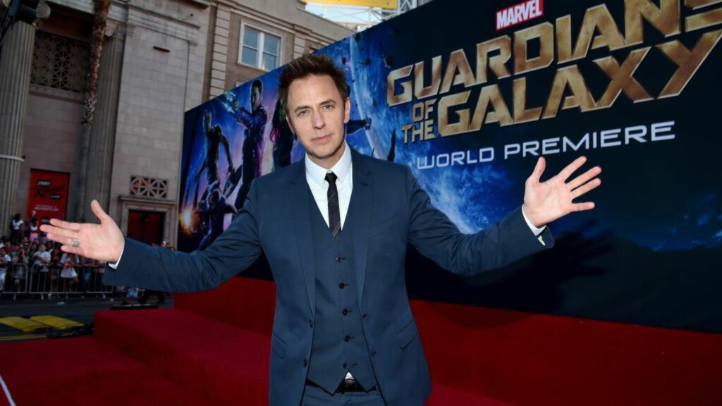 EN VARIERT CV: «Guardians of the Galaxy»-regissør James Gunn kan ikke sies å ha vært et selvsagt for Marvel-eier Disney - men etter rekordåpningen i helgen kan det trygt sies å ha vært et smart valg. Foto:   Alberto E. Rodriguez/Getty Images for Disney/AFP/Scanpix