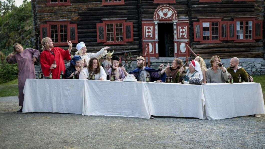 <strong>BRUDD MED DET HELLIGE:</strong> «Slaget på Testiklestad» henter inspirasjon fra sin mer berømte slektning, men står fritt, herjer fritt og forsyner seg også fritt fra andre kilder. Foto: Geir Otto Johansen