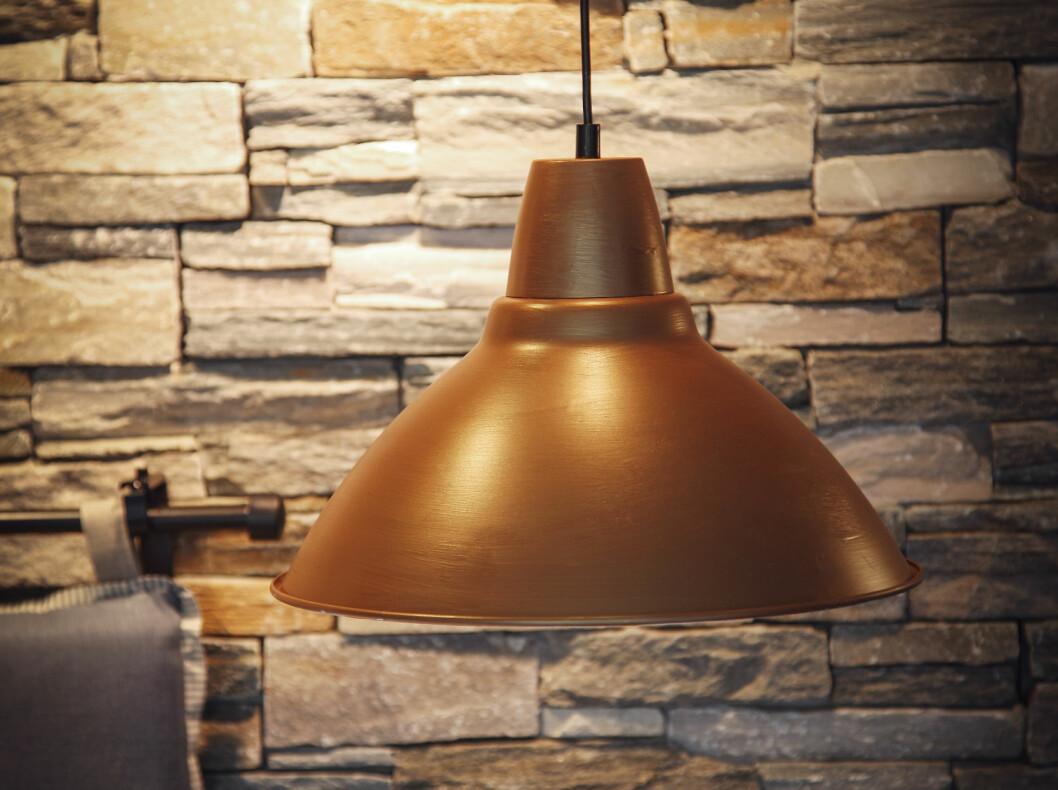 Ferdig lampe. Antatt tid brukt på prosjektet: 1 time. Foto: Erik Hannemann/Siv Endresen/Spetakkel Forlag