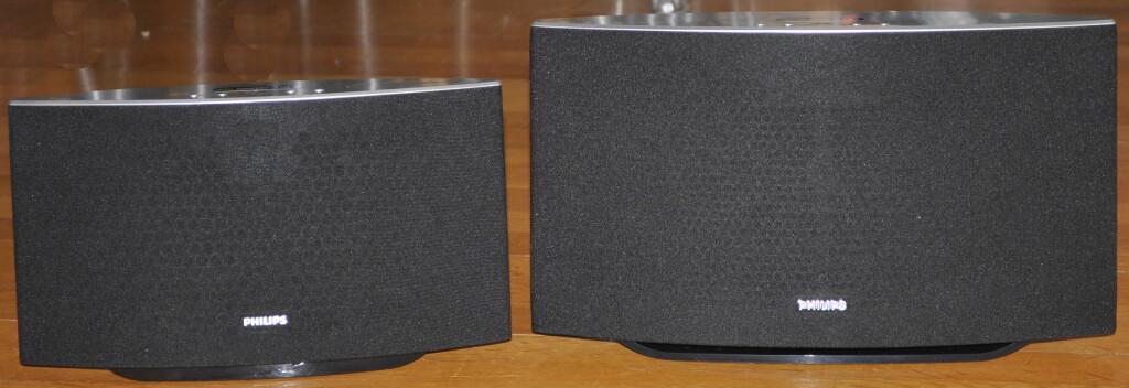 BRØDRE: SW700 (til venstre) og SW750 låter ganske likt, og prisforskjellen er bare 500 kroner. Romstørrelsen bør avgjøre hvilken du velger. Foto: TORE NESET