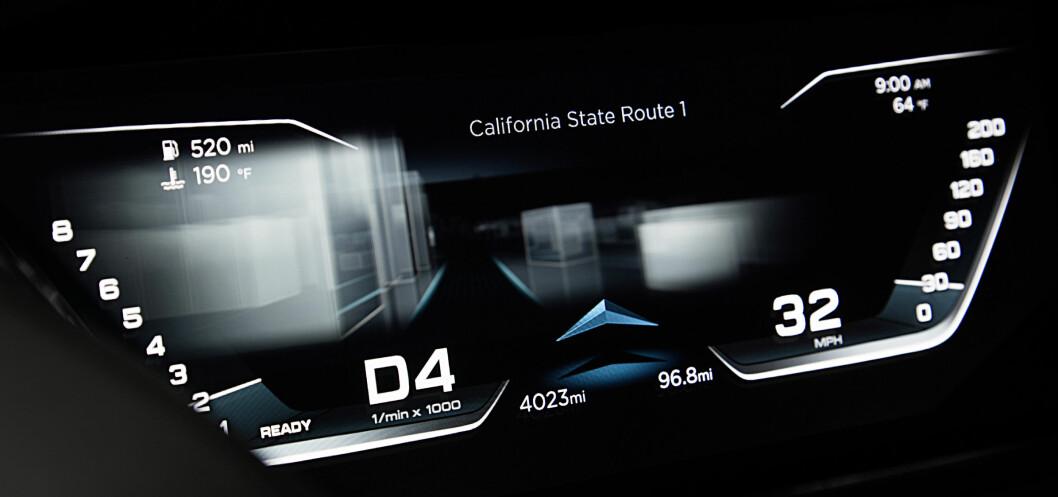 <strong><b>FINNER FREM:</strong></b> Audi prologue som vises på CES kan selvsagt kjøre helt på egen hånd. Foto: AUDI