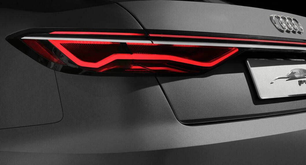 <strong><b>DETALJ:</strong></b> Baklykten til Audi prologue. Foto: AUDI