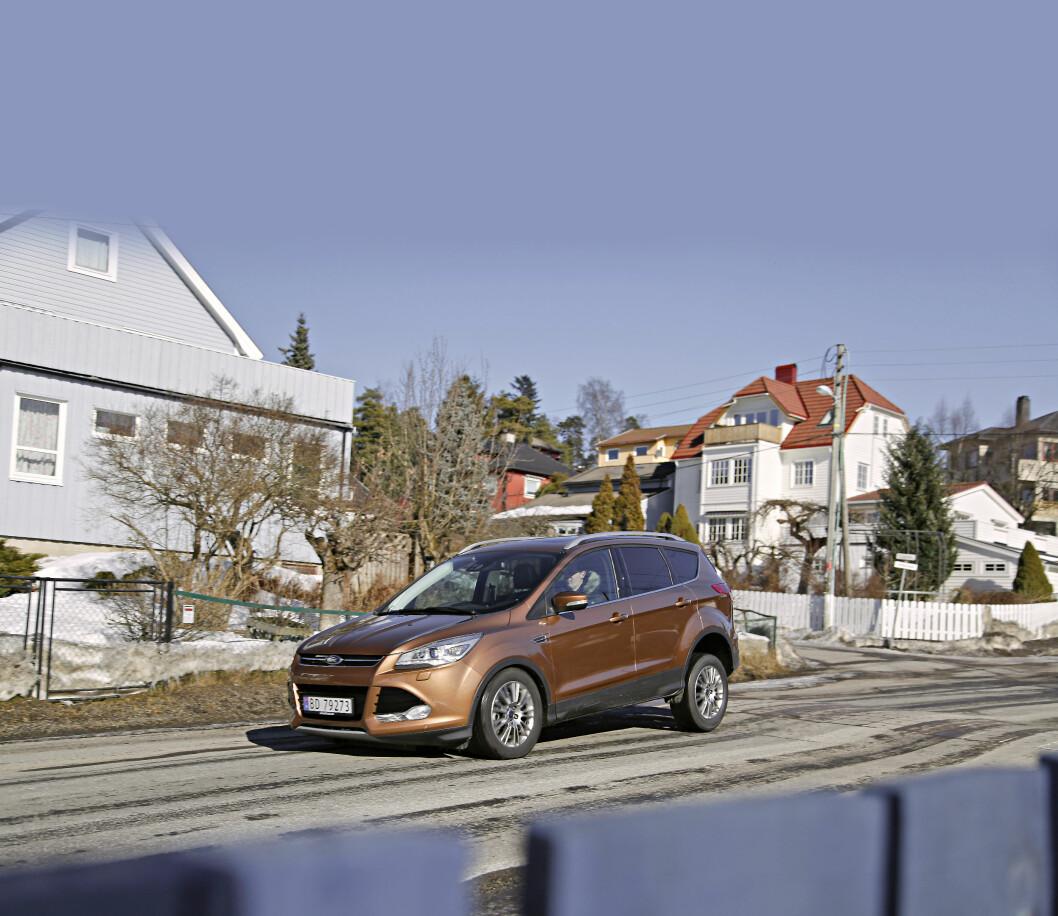 <strong><b>FORD KUGA:</strong></b> Kuga og Ranger har vært Fords eneste alternativ med 4x4. Nå får de selskap av Mondeo og C-Max. Foto: KNUT ARNE MARCUSSEN
