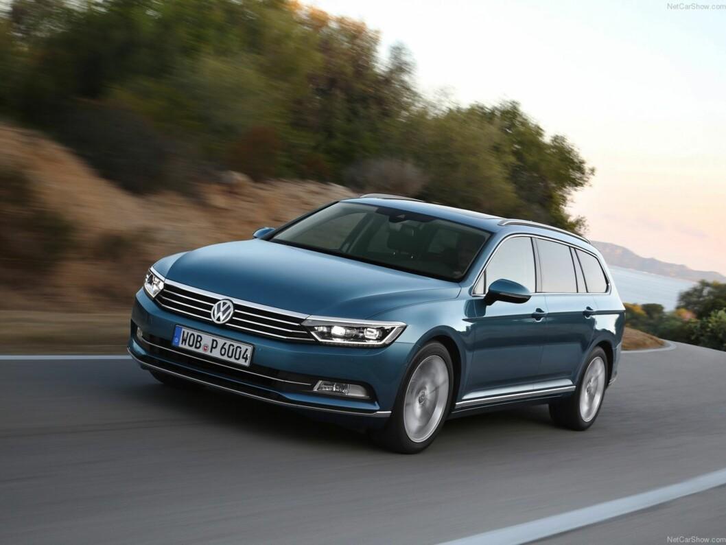 <strong><b>VW PASSAT:</strong></b> En av de mest komplete bilene i dag. Stor plass, gode kjøreegenskaper og masse utstyr. Foto: VW