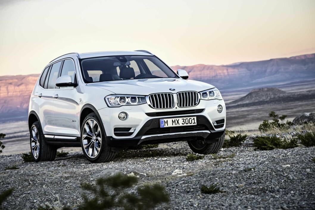 <strong><b>BMW X3:</strong></b> BMW er største bilmerke på 4x4 i Norge og X3 er storselgeren. Foto: BMW