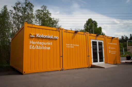 HENTEPUNKT: Kolonial.no har 11 hentepunkter, deriblant dette på Abildsø i Oslo. Foto: KOLONIAL.NO