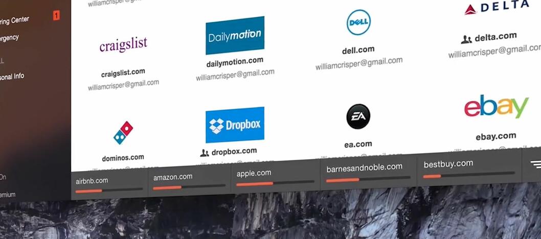 <strong><strong>BYTTER ALLE:</strong></strong> Dashlane kan nå bytte passordene på en rekke populære nettjenester med ett klikk.