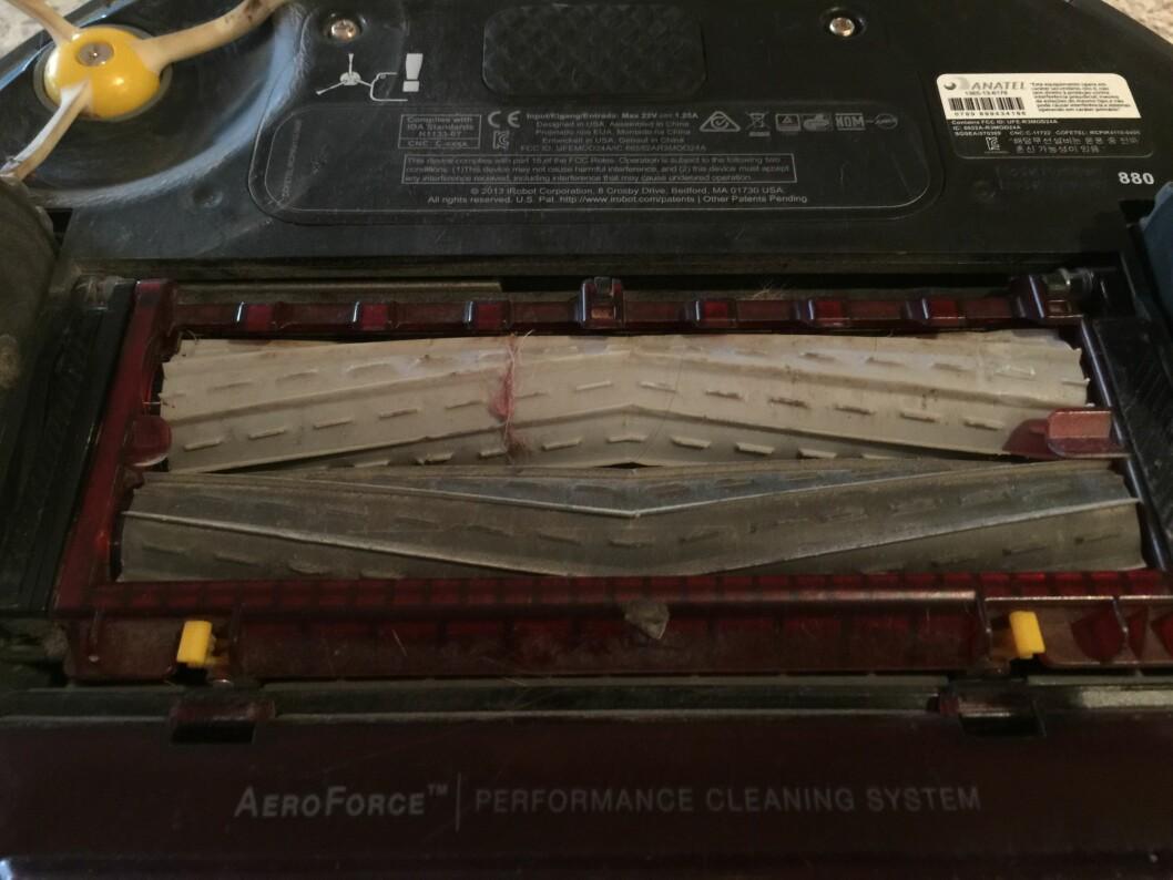 De nye gummivalsene, etter 5 ukers intens bruk. Foto: ØYVIND PAULSEN