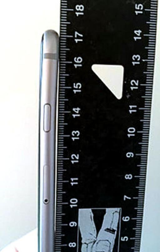 BØYD: Her er iPhone 6-mobilen ITavisen omtaler, som har bøyd seg. Foto: ITAVISEN