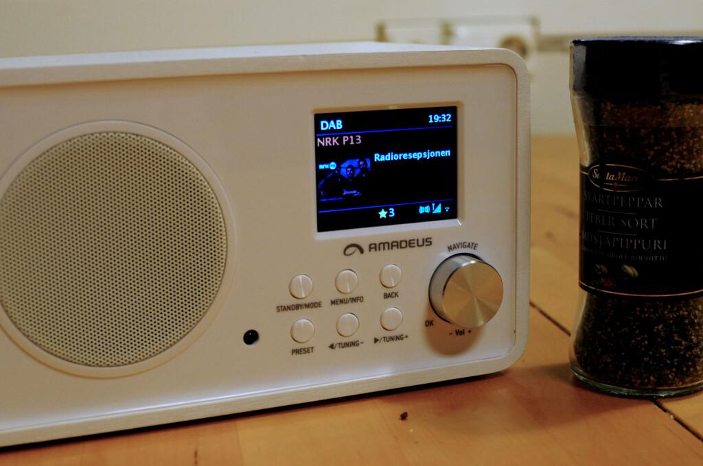 <b>PERFEKT PÅ KJØKKENET:</b> Nettradio, DAB, DAB+ eller FM til matlagingen? Amadeus stiller opp. Foto: TORE NESET