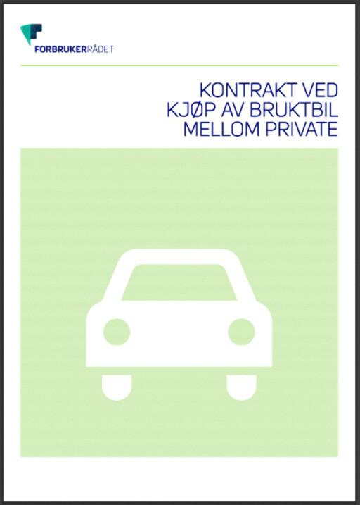 KJØPEKONTRAKT: Klikk på bildet for å laste ned Forbrukerrådets kjøpekontrakt for bruktbil. Foto: FORBRUKERRÅDET