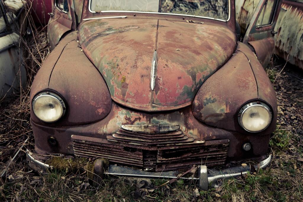VRAKBIL: Et vrak er ikke et vrak, så lenge det ser ut som en bil.  Foto: COLOURBOX