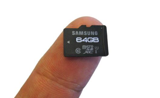 <strong>MER LAGRING:</strong> Mange nettbrett har en spalte for microSD-kort, som gjerne flerdobler lagringsplassen for noen hundrelapper. Foto: BJØRN EIRIK LOFTÅS