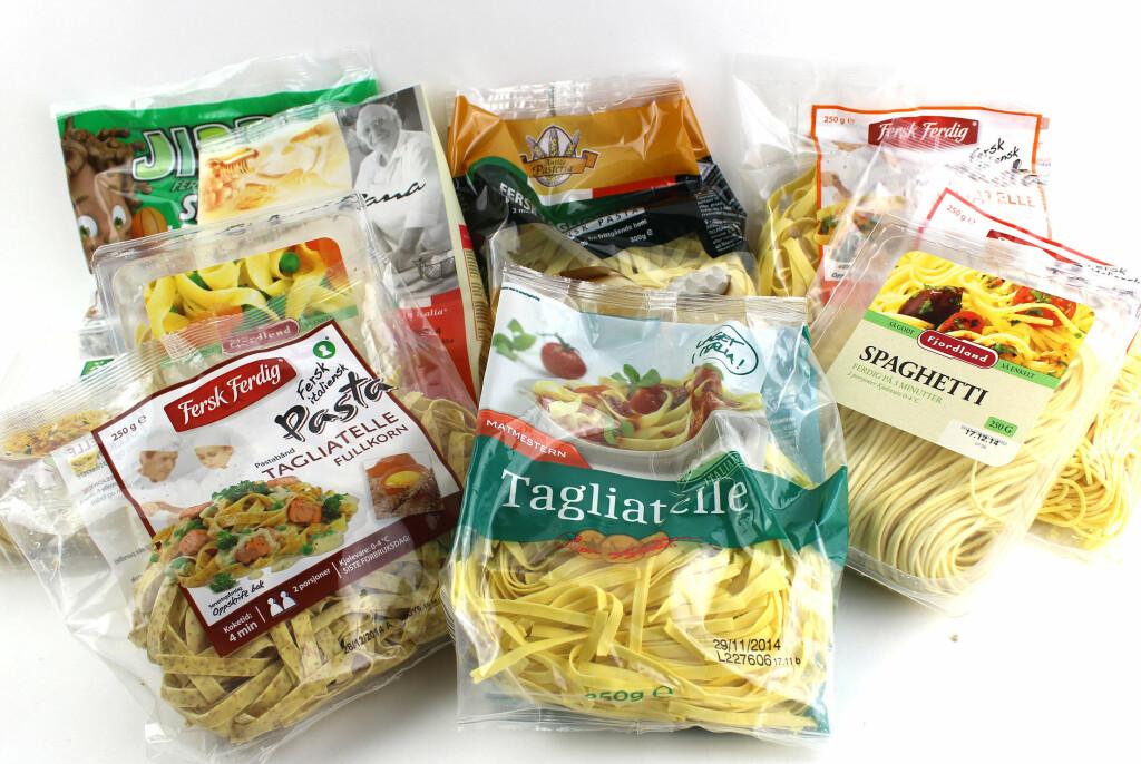 <b>FERSK PASTA:</b> Vi har testet fersk pasta fra dagligvareforretningene.  Foto: OLE PETTER BAUGERØD STOKKE