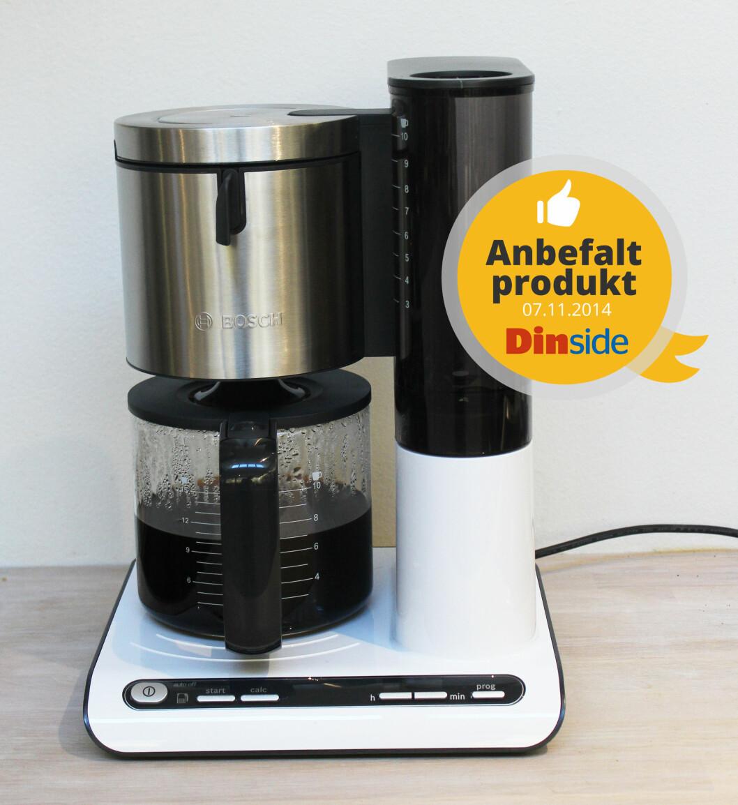 <strong><b>NETT:</strong></b> Vi likte designet på Bosch' kaffetrakter. Den var også den greieste å programmere.  Foto: ELISABETH DALSEG