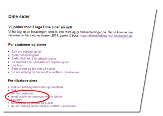 <strong><b>AVTALEGIRO:</strong></b> Ved å logge inn på Dinesider hos Lånekassen, kan du velge å få studielånet som AVtaleGiro, og slippe unna termingebyret på 18 kroner per faktura. Foto: ILLUSTRASJON