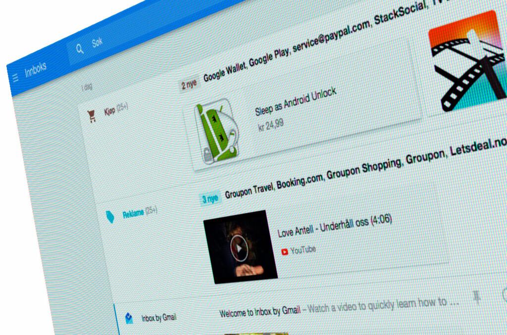 <strong>NY TJENESTE:</strong> Inbox er Googles nye tjeneste som hjelper deg å organisere eposten smartere. Foto: PÅL JOAKIM OLSEN