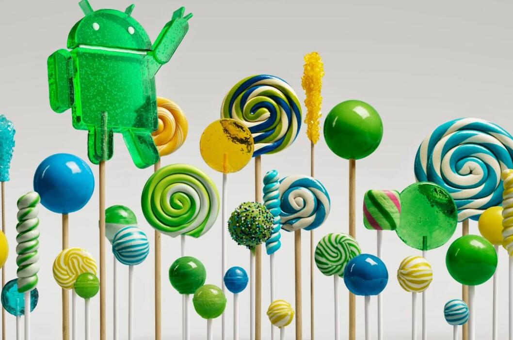 <strong><b>MØT LOLLIPOP:</strong></b> Også kjent som Android versjon 5.0. Foto: GOOGLE