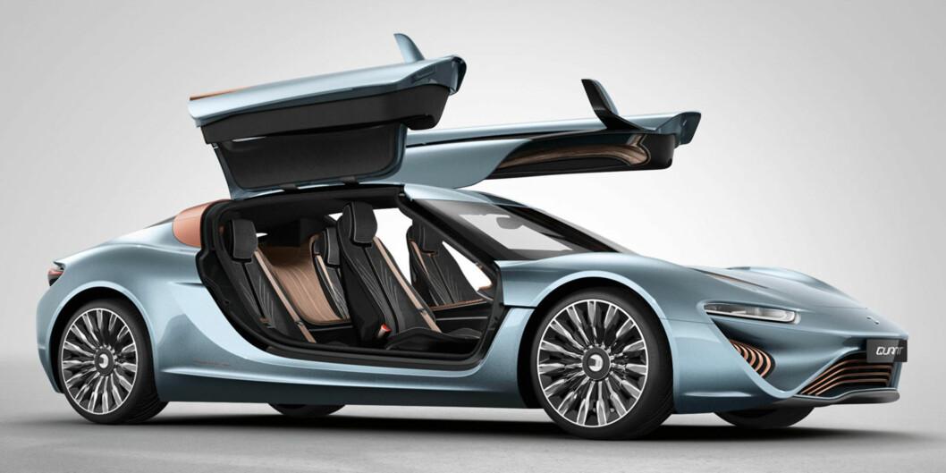 <strong><b>FLOTT MÅ DET VÆRE:</strong></b> Når teknologien er dyr (foreløpig, håpes det), må bilen også bli det. Og da kan man like gjerne gå for supersportsbil-klassen. Ifølge kilder i Tyskland sitert av Daily Mail, koster bilen minimum ti millioner kroner. Foto: NANOFLOWCELL