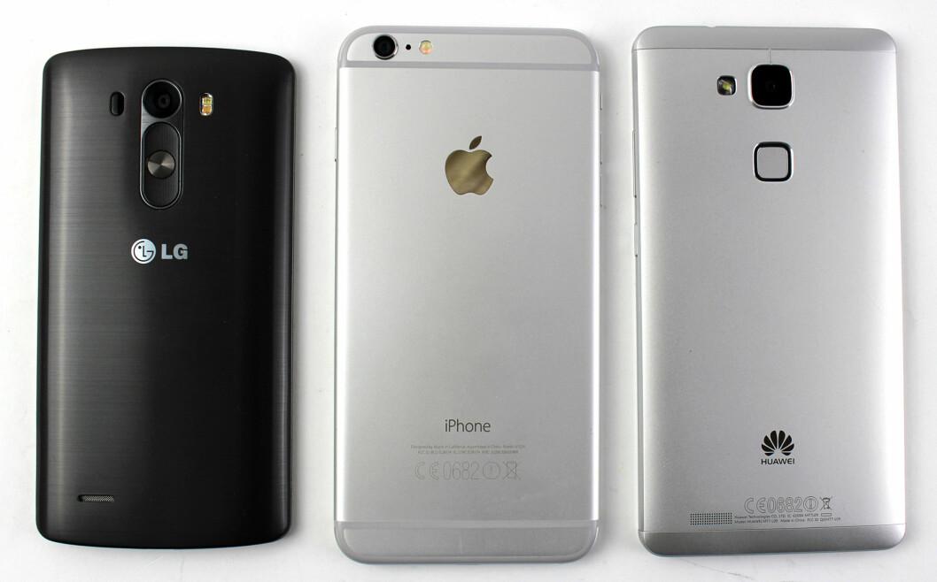 <strong><b>BAKFRA:</strong></b> Her kan vi se hvorfor LG G3 er relativt liten: knappene tar bare opp plass på baksiden. Foto: KIRSTI ØSTVANG
