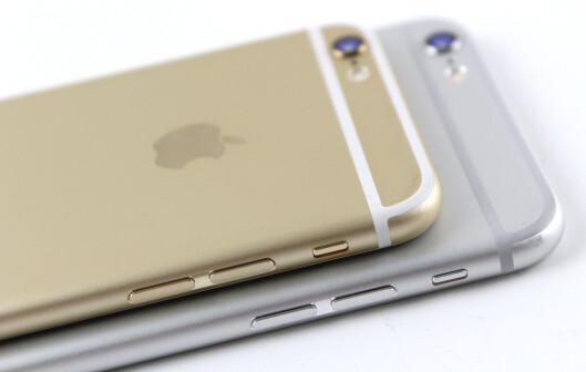 <strong><b>NY DESIGN:</strong></b> Årets iPhone-modeller har blitt runde i kantene. Foto: KIRSTI ØSTVANG