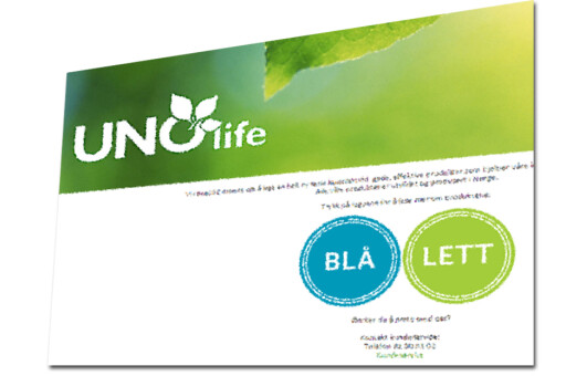 TILBUD? Blir du oppringt med tilbud om å prøve produkter fra Uno Life? Forbrukerrådet anbefaler å takke nei. Foto: SKJERMDUMP