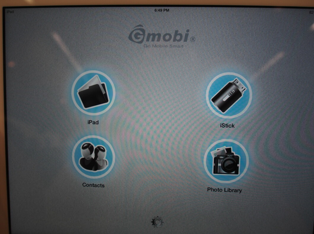 <strong><b>iStick:</strong></b> Startskjermen på iStick-appen. Foto: ØYVIND PAULSEN