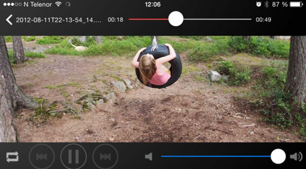<strong><b>i-FlashDrive:</strong></b> Video-visning på iPhone. Foto: ØYVIND PAULSEN